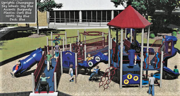 Playground equipment remains a priority for local children